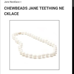 NWT CHEWBEADS Jane necklace in white